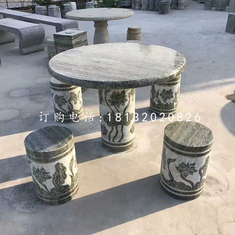大理石圆石桌凳仿古桌凳