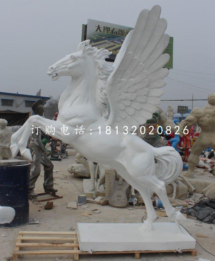 汉白玉飞马动物石雕