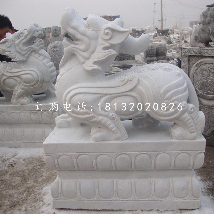 汉白玉貔貅雕塑古代神兽石雕