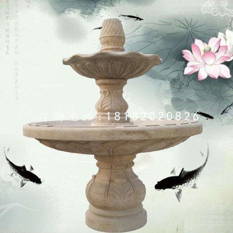 石雕双层喷泉公园喷泉石雕