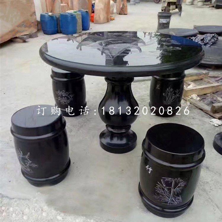 石雕圆桌凳公园桌凳石雕