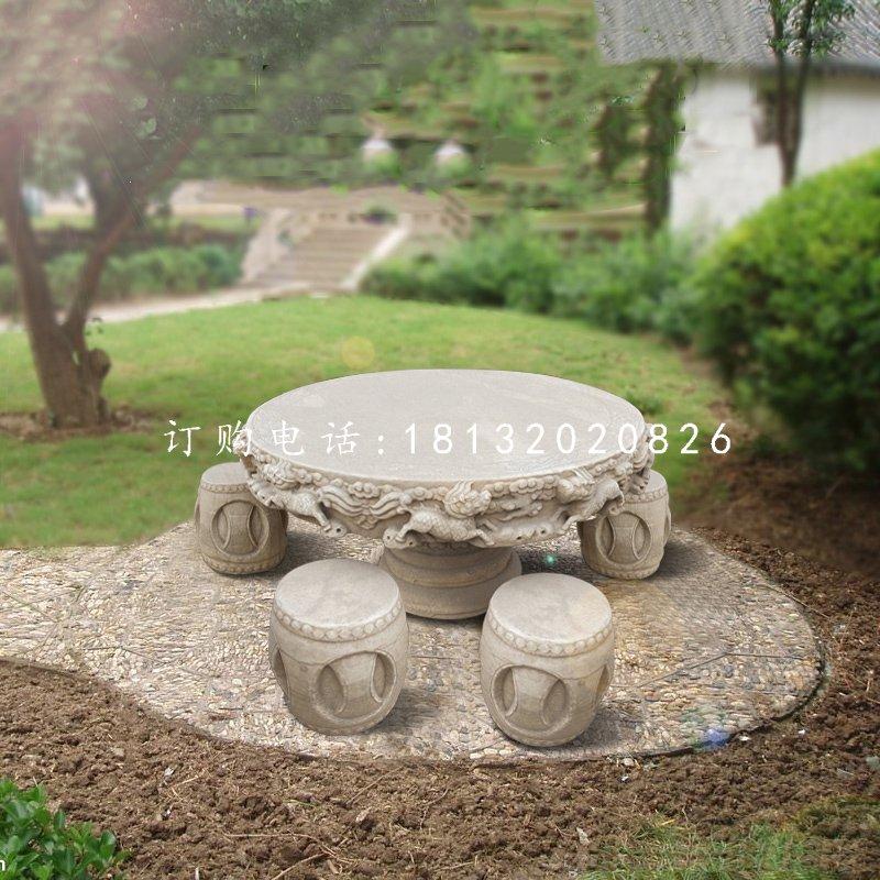 石雕桌凳公园桌凳石雕