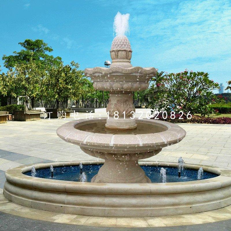双层喷泉石雕公园喷泉雕塑