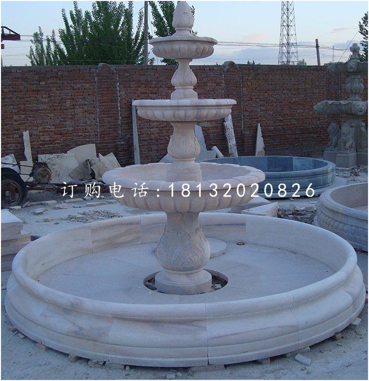 晚霞红喷泉,别墅喷泉石雕