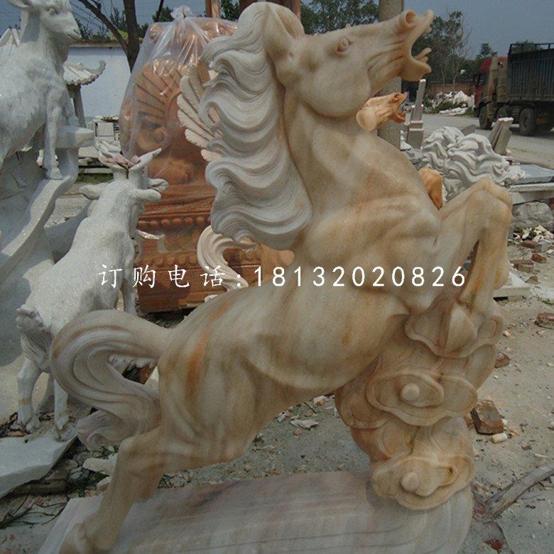 晚霞红立马雕塑动物石雕