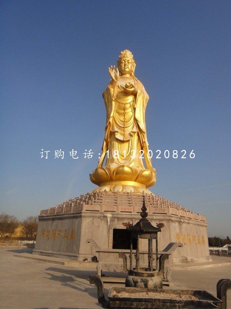 大型佛像铜雕观音菩萨雕塑