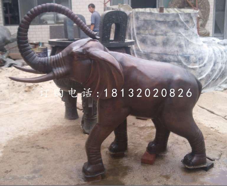 广场大象铜雕公园动物雕塑