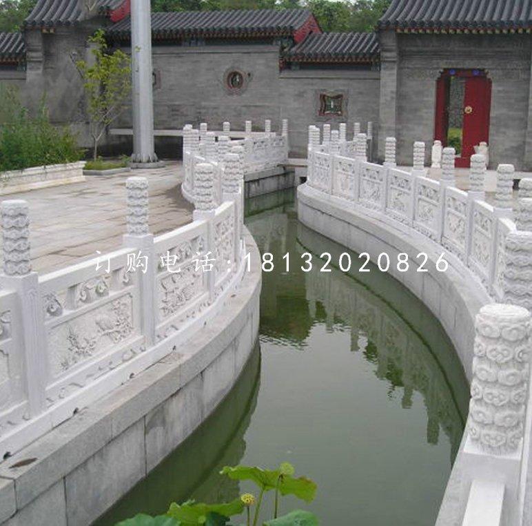 汉白玉围栏雕塑公园栏板石雕
