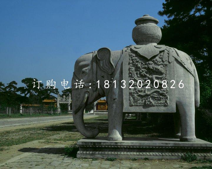 门口石雕大象的摆放有什么讲究?