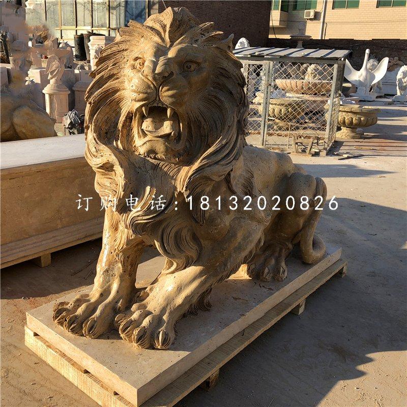 西洋狮子石雕 看门狮子石雕