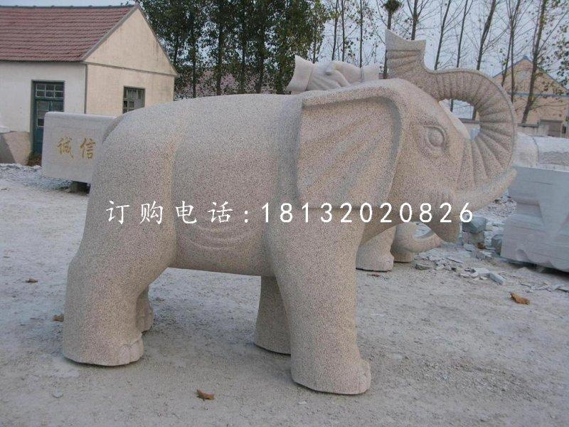 大理石大象雕塑公园动物石雕