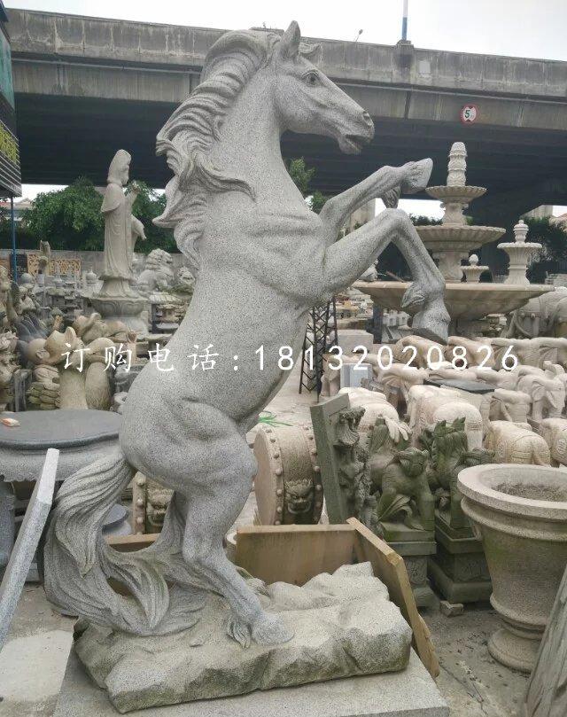 大理石马雕塑公园石雕马