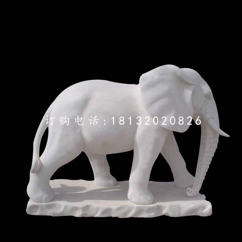 汉白玉大象,广场动物石雕