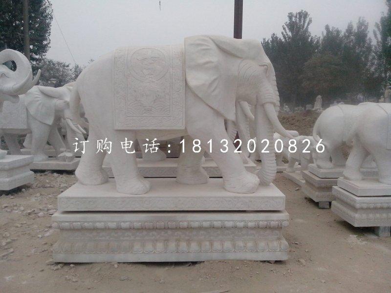 吉祥大象石雕,动物石雕
