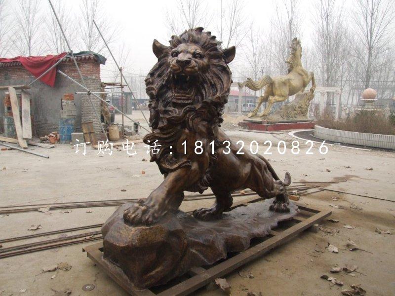 西洋狮铜雕,铜雕狮子