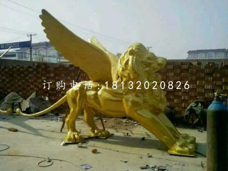 西洋飞狮铜雕,广场狮子铜雕