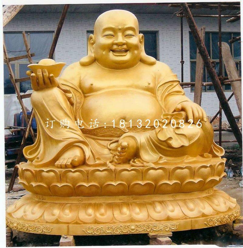 坐式弥勒佛,铜雕佛像