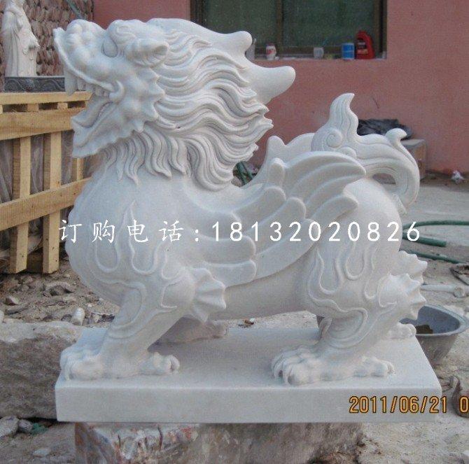 汉白玉貔貅,石雕貔貅雕塑