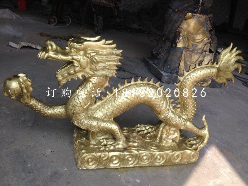 龙戏珠铜雕,广场神龙铜雕
