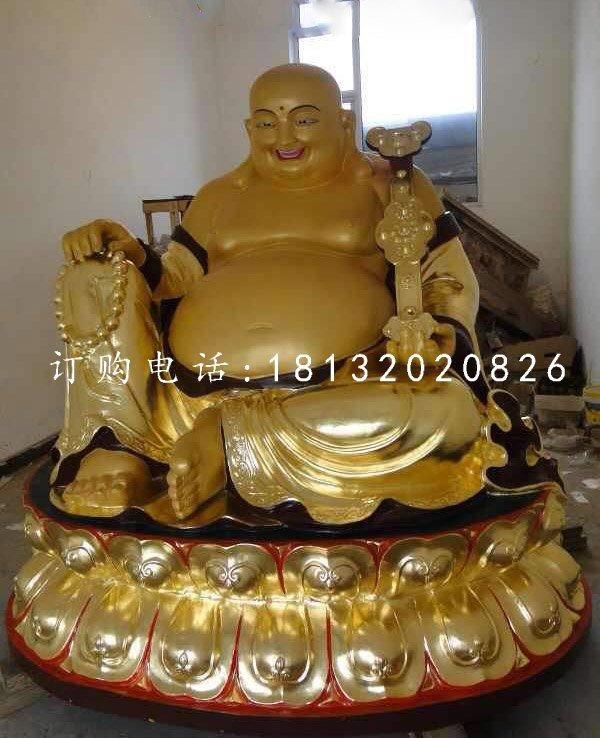 招财弥勒佛铜雕,坐式铜弥勒佛