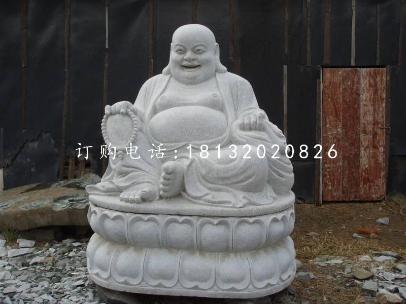 坐式弥勒佛石雕,汉白玉弥勒佛雕塑