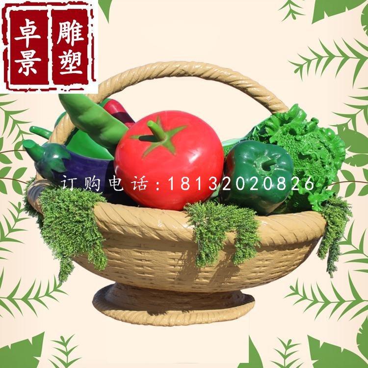 蔬菜篮子雕塑玻璃钢景观雕塑
