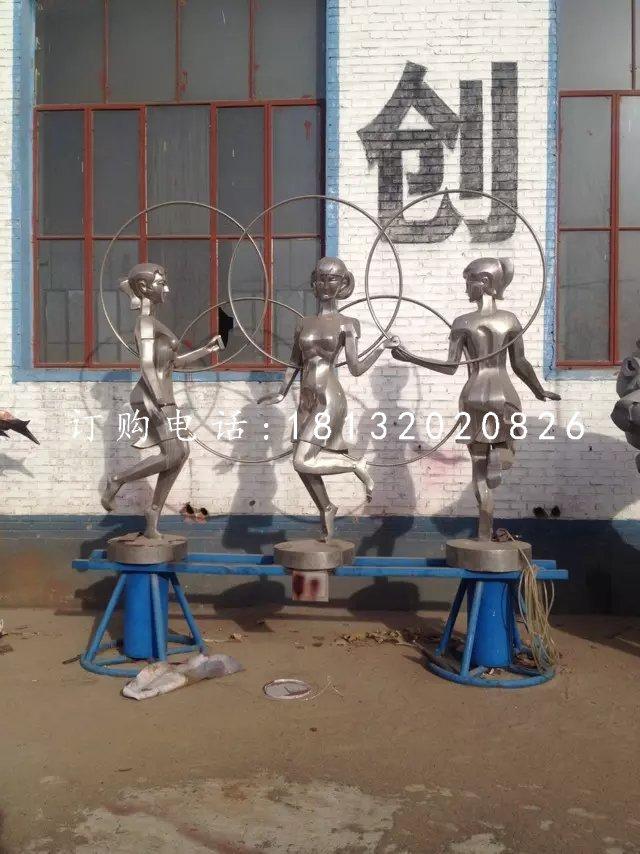 不锈钢运动雕塑,校园操场不锈钢雕塑