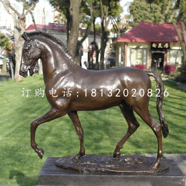 走路的马铜雕,公园动物铜雕