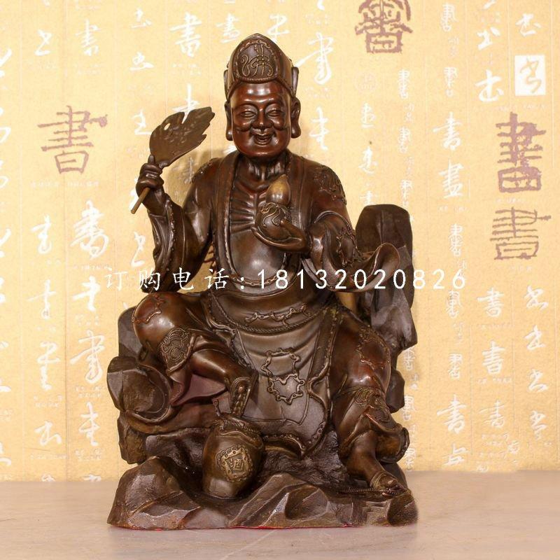 济公铜雕,古代名人铜雕