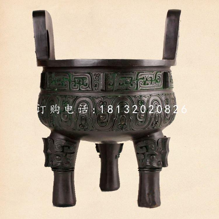 青铜三足圆香炉,寺庙香炉
