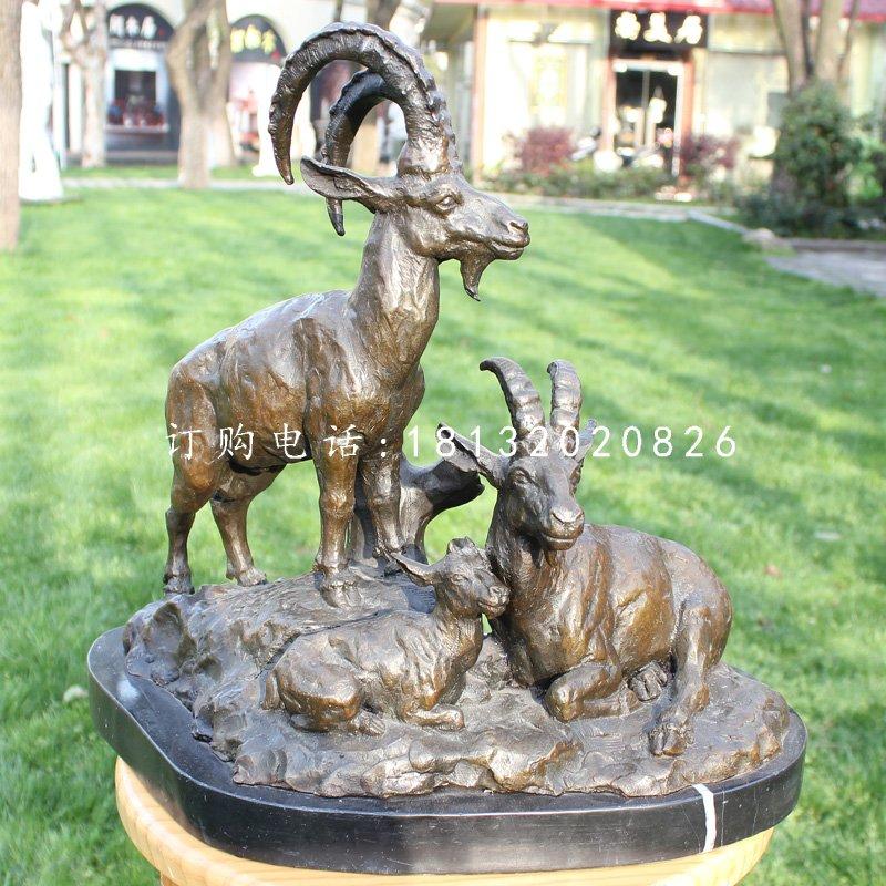 三羊开泰铜雕,企业吉祥