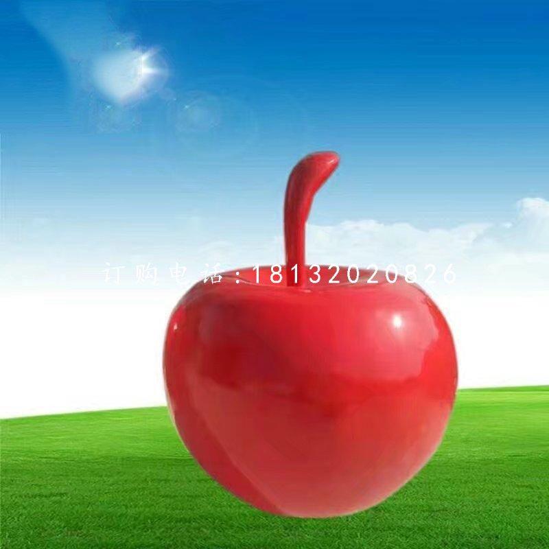 玻璃钢仿真红苹果仿真水果雕塑