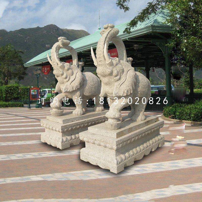 花岗岩大象石雕门口大象雕塑