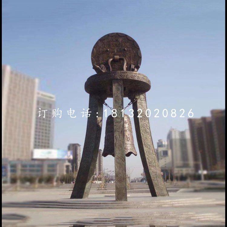 铜雕钟广场景观铜雕