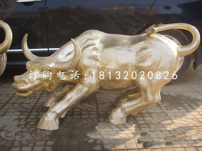 华尔街牛铜雕