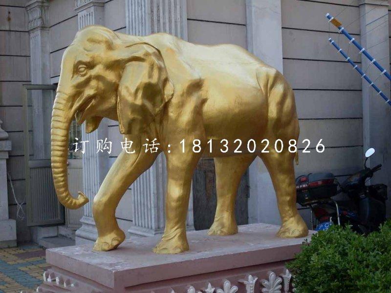 玻璃钢仿铜大象,门口大象
