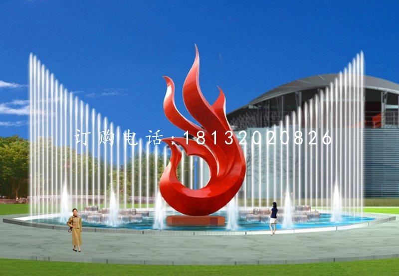 不锈钢抽象凤凰雕塑,广场