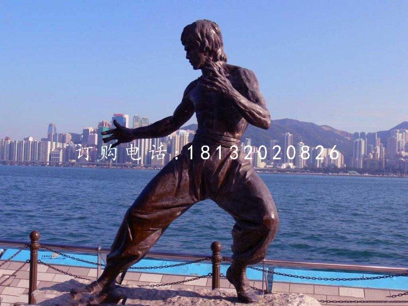 李小龙铜雕,近代名人铜雕