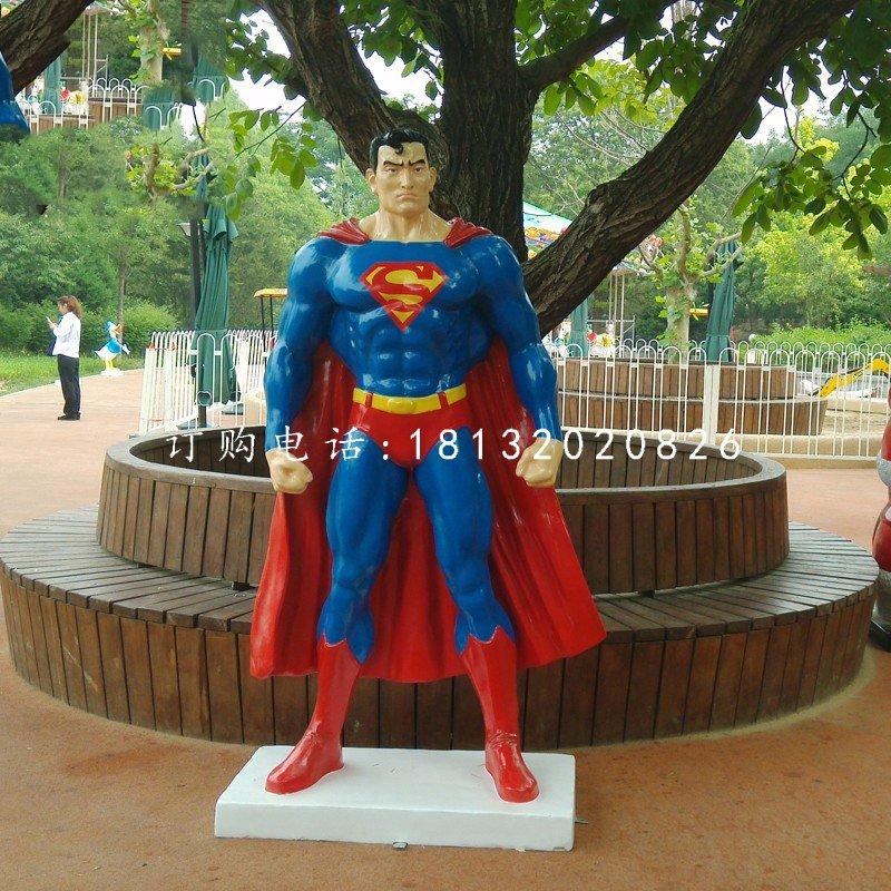 玻璃钢超人雕塑电影人物雕塑
