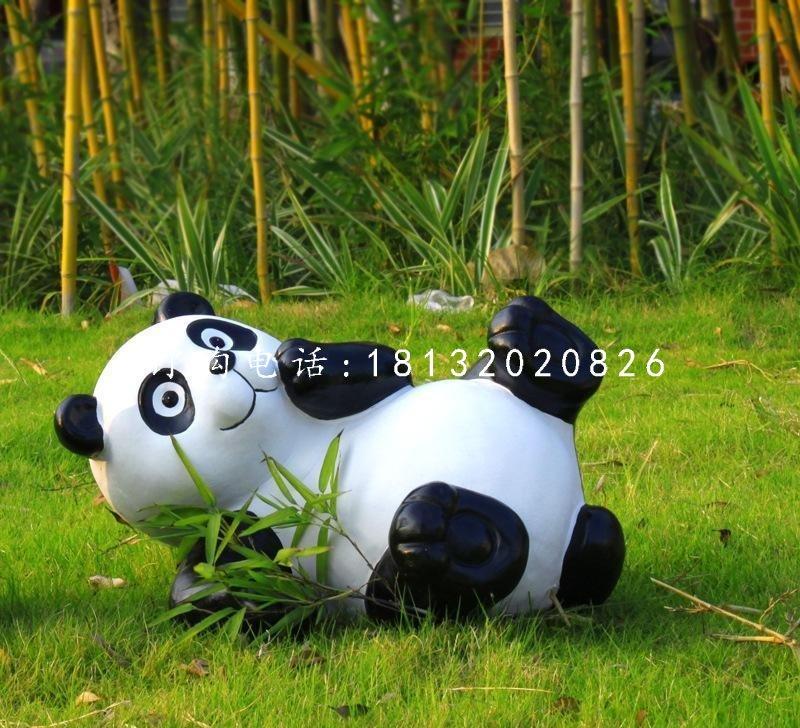 仿真熊猫雕塑玻璃钢仿