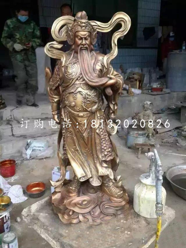 关羽铜雕,铜雕关公,武财神铜雕