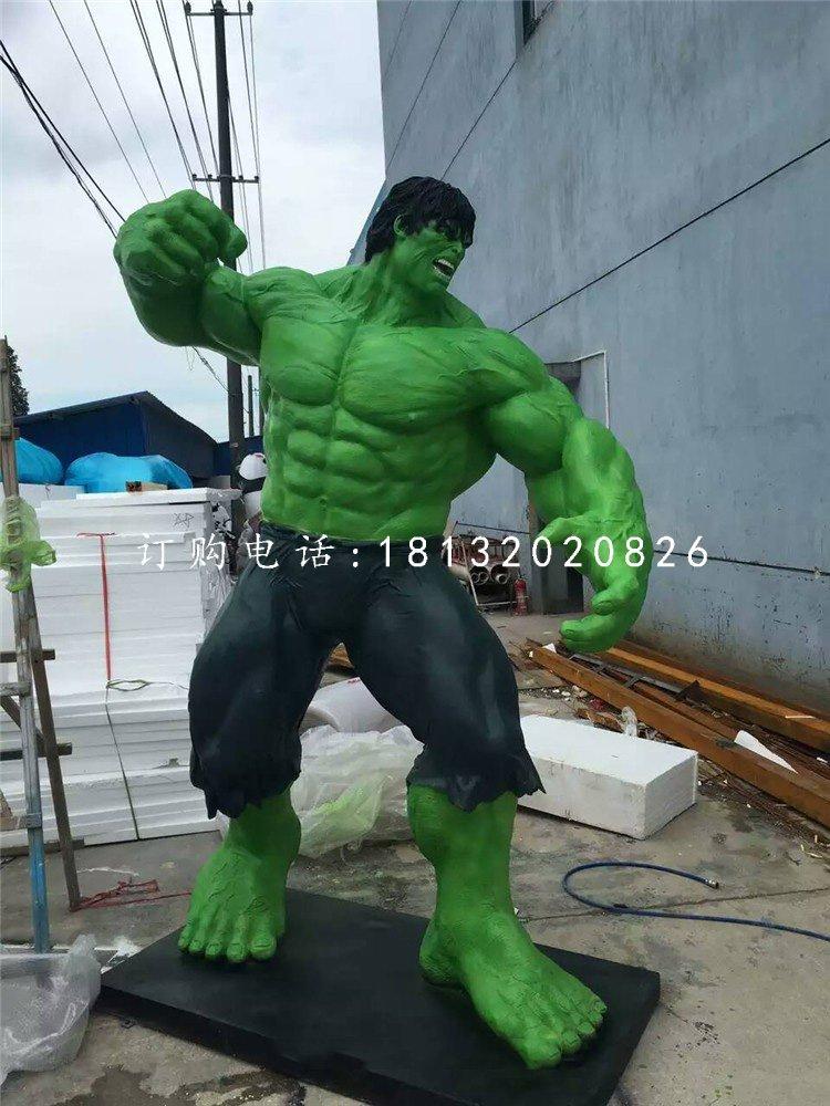 玻璃钢绿巨人 仿真人物雕塑