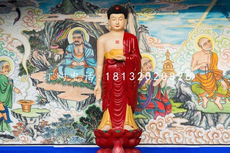 玻璃钢彩绘释迦牟尼 寺庙佛像雕塑