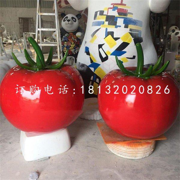 玻璃钢番茄 仿真蔬菜雕塑 公园景观雕塑