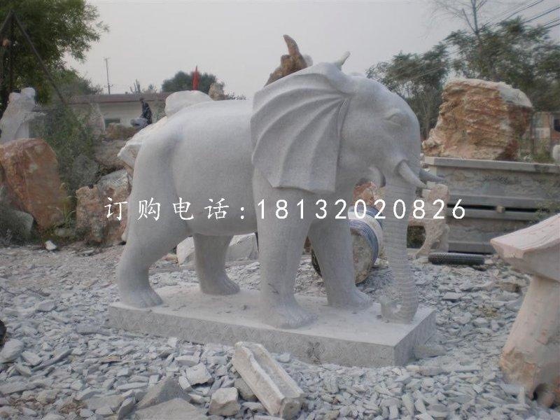 大理石大象石雕 动物石雕 门口大象雕塑