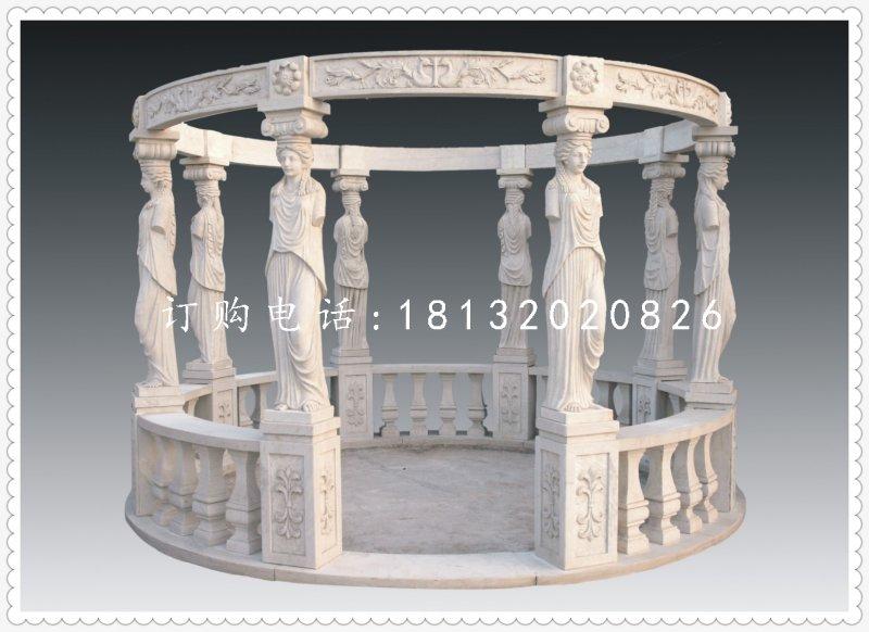 欧式人物凉亭,公园凉亭石雕