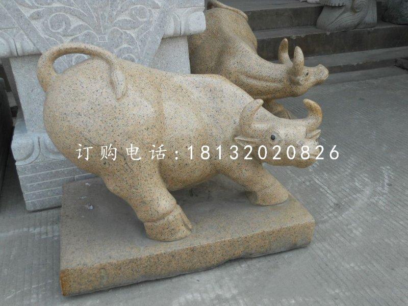 石雕牛 动物石雕 公园景观石雕