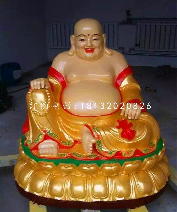 玻璃钢弥勒佛雕塑 寺庙佛像雕塑