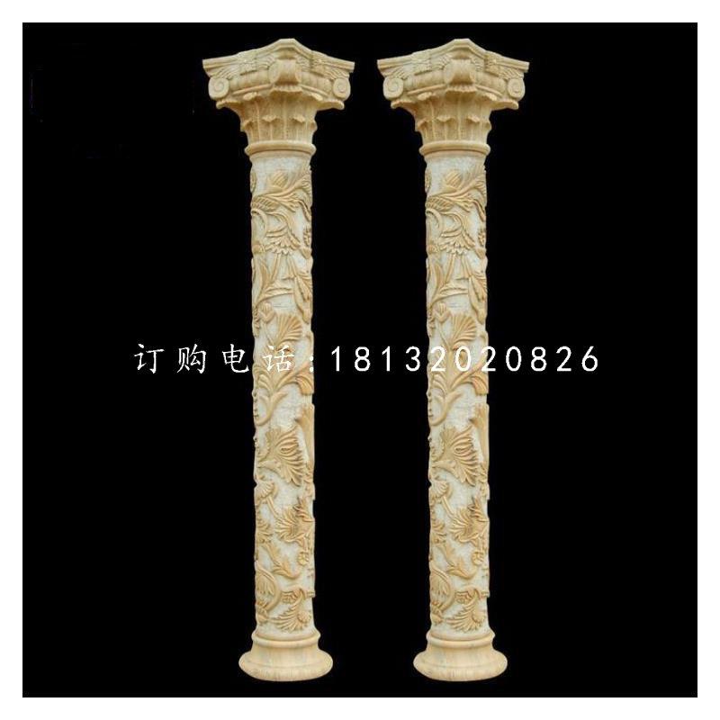 罗马柱石雕砂岩柱子
