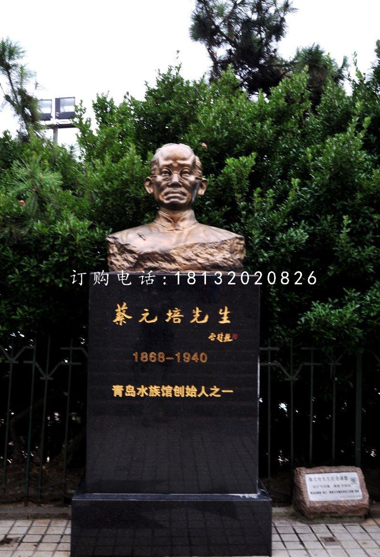 名人胸像铜雕 蔡元培铜雕
